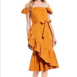 Antonio Melani NWT Lara Ruffle Dress Golden Oak